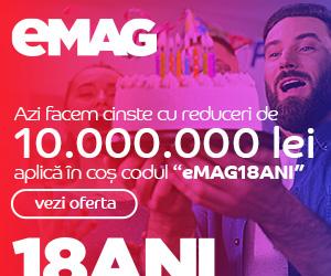 Campanie de reduceri Campanie Ziua eMAG 18 ani