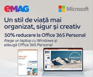 Campanie de reduceri 50% reducere la Office 365 Personal achizitionat impreuna cu un laptop cu Windows, 02- 08.12.2019