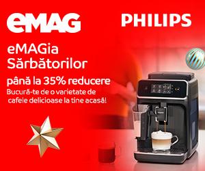 Campanie de reduceri eMAGIA - Espressoare Philips