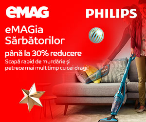 Campanie de reduceri eMAGIA - aspiratoare verticale Philips