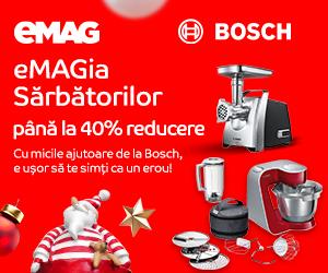 Campanie de reduceri eMAGIA - electrocasnice mici pentru bucatarie Bosch