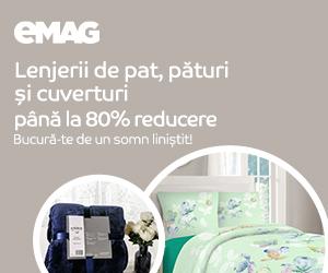 Campanie de reduceri Lenjerii de pat, paturi si cuverturi, 12- 31.12.2019
