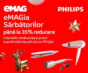 Campanie de reduceri Philips hair styling 35%
