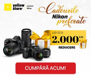 Campanie de reduceri Cadourile Nikon preferate!