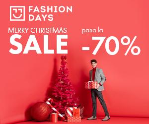 Campanie de reduceri Merry Christmas Sale - reduceri de pana la 70% la articolele pentru barbati