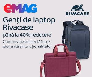 Campanie de reduceri Genti pentru laptop Rivacase, 19- 27.12.2019