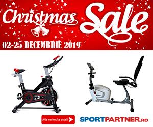 Campanie de reduceri Promotie de Craciun - biciclete fitness