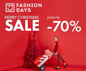 Campanie de reduceri Merry Christmas Sale - reduceri de pana la 70% la articolele pentru femei