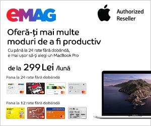 Campanie de reduceri Campanie rate fara dobanda laptopuri MacBook Pro 13