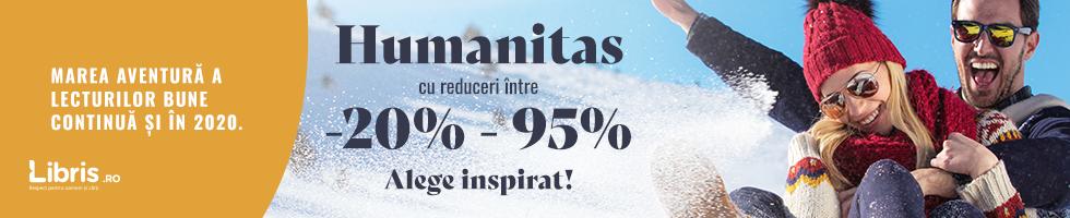 Campanie de reduceri Humanitas -20% - 95%. Marea aventura a lecturilor bune.