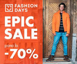 Campanie de reduceri Epic Sale - pana la 70% reducere la articolele pentru barbati