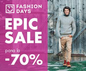 Campanie de reduceri Epic Sale - 70% reducere la articolele pentru barbati (refresh)