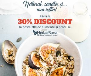 Campanie de reduceri REDUCERI pana la 30% la peste 300 de alimente si produse HerbalSana