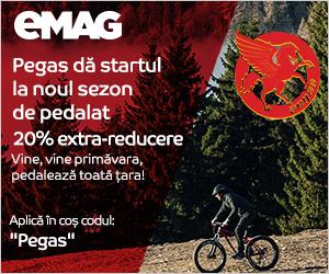 Campanie de reduceri Biciclete Pegas 20% extra-reducere