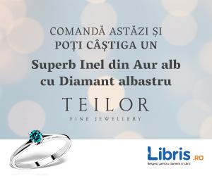 Campanie de reduceri Campanie V-Day - CADOU un Superb Inel din Aur cu Diamant albastru, marca Teilor!