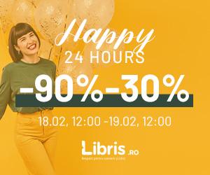 Campanie de reduceri Happy 24 Hours -90% -30% si Extra Avantaje. Transport Gratuit la peste 50 lei!