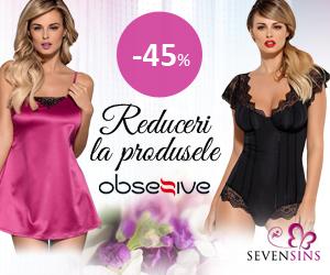 Campanie de reduceri 45% reducere la produse marca Obsessive!