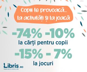 Campanie de reduceri Copiii te provoaca ... -74% -10% la activitati si la joaca.