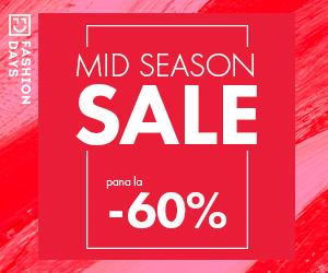 Campanie de reduceri Mid Season Sale - pana la -60%