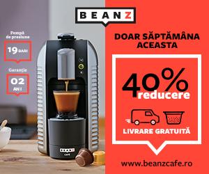 Campanie de reduceri -40% la Espressoarele BeanZ Cafe