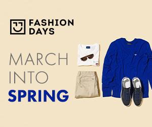 Campanie de reduceri March into Spring (refresh barbati)