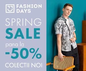 Campanie de reduceri Spring Sale - reduceri de pana la 50% la colectiile noi pentru barbati