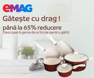 Campanie de reduceri Campanie articole pentru gatit pana la 65% reducere- specific de Paste, 01- 30.04.2020