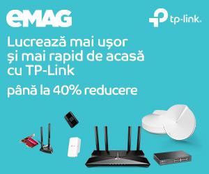 Campanie de reduceri Retelistica TP-LINK Work from home