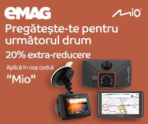 Campanie de reduceri Campanie 20% extra reducere electronice auto MIO, 24- 26.04.2020