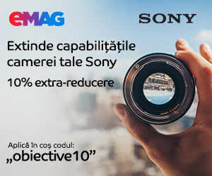 Campanie de reduceri Obiective foto Sony 10% extra-reducere