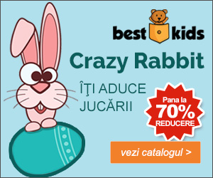 Campanie de reduceri Crazy Rabbit! Pana la 70% REDUCERE la Jucariile din Tolba Iepurasului