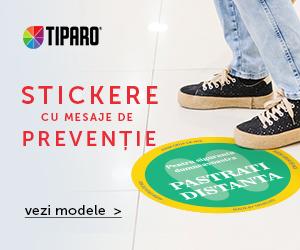 Campanie de reduceri Stickere preventie pentru magazine