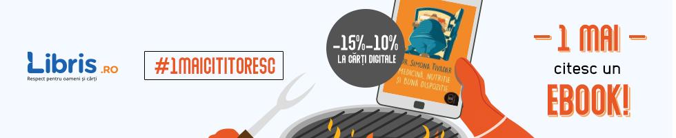 Campanie de reduceri 1 Mai Cititoresc! -15% -10%  eBooks la un click distanta