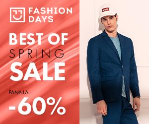Campanie de reduceri Best of Spring Sale - reduceri de pana la 60% la articolele pentru barbati