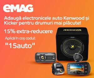 Campanie de reduceri Voucher 15% extra reducere car electronics Kenwood, 28- 29.04.2020
