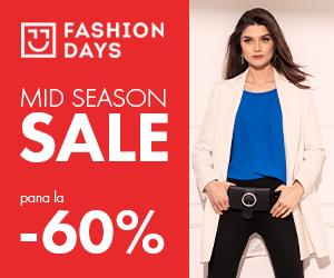 Campanie de reduceri Mid Season Sale - pana la - 60% la articolele pentru femei
