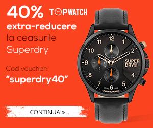 Campanie de reduceri 40%  REDUCERE la ceasurile SUPERDRY