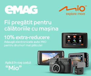 Campanie de reduceri Voucher 15% extra reducere car electronics MIO, 09- 11.05.2020