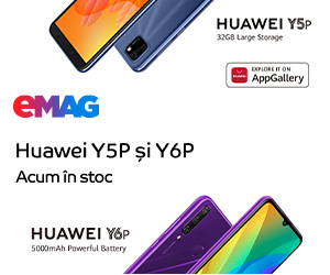 Campanie de reduceri Campanie stoc Huawei Y5P & Y6P