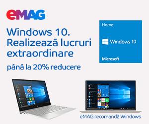 Campanie de reduceri Laptopuri cu Windows 10 & Home