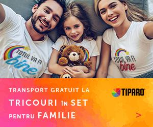 Campanie de reduceri Campanie Tricouri familie- cu transport gratuit