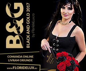 Campanie de reduceri Flori de lux, buchete de lux online: Black&Gold Summer 2017