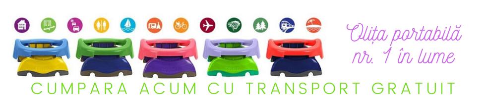 Campanie de reduceri Transport gratuit olita portabila Potette