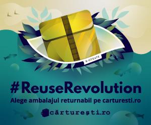 Campanie de reduceri #REUSEREVOLUTION - ALEGE AMBALAJUL RETURNABIL