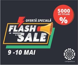 Campanie de reduceri Flash Sale: 5.000 de cărți cu preț redus!