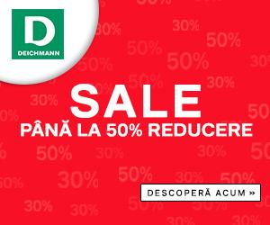 Campanie de reduceri Campanie Deichmann: SALE! SALE! SALE! Până la 50% reducere la articolele selectate.