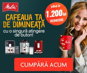 Campanie de reduceri Cafeaua ta de dimineata cu Melitta!