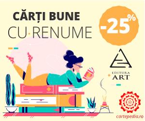 Campanie de reduceri Cărți cu renume! Editura Art cu 25% reducere!
