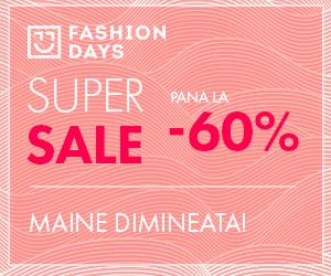 Campanie de reduceri Teasing Super Sale - reduceri de pana la 60% la articolele pentru femei
