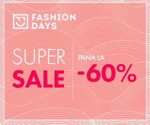 Campanie de reduceri Super Sale - reduceri de pana la 60% la articolele pentru femei
